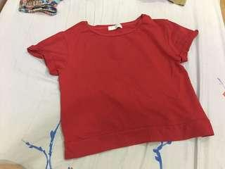 Giordano red casual top