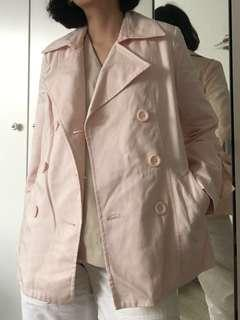 Pink short trench jacket