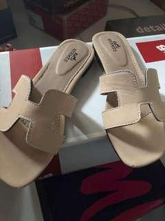 Sendal flat her*mes with box