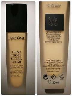 (BO-04) Lancôme Teint Idole Ultra Wear Foundation SPF 38 / PA+++ 極致持妝輕透粉底液 30ml