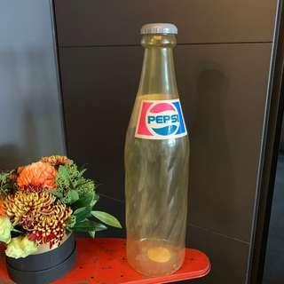 Pepsi塑膠罐存錢筒 H 62 X圓徑16 有裂痕
