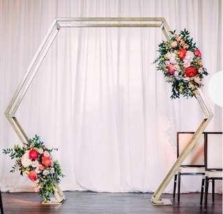 Hexagonal Wedding Arch Decor