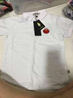 Elmo polo white t shirt
