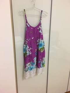 🚚 Purple lace flower dress