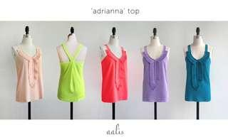 aalis's Adriana top in lime