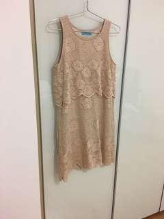 🚚 Nude lace dress