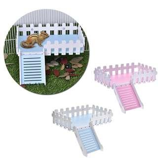 Pet Small Animal Mouse Hamster Ladder Fence Toy Durable Rail Platform Toy