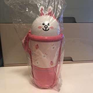 泰國711期間限定 line friends cony 兔兔 食物盒造型 超可愛 共三層,有吊繩,匙,實用!