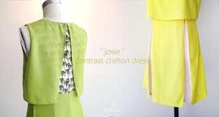 aalis's chiffon dress in lime