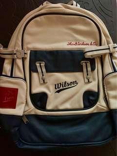 Wilson Heritage Backpack Medium Tennis Racket Bag Racquet Beige Wrz-620696