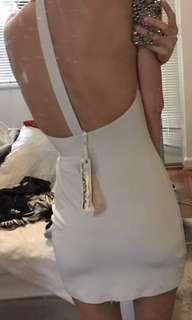 Lumier Grey T Back Open Back Dress RRP:$110