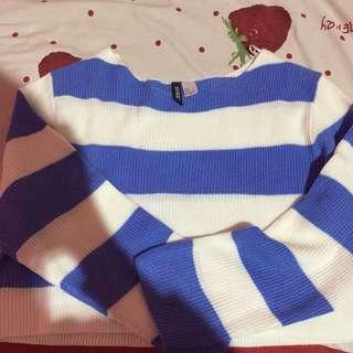 Hnm Stripe Crop Sweater