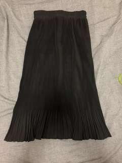 🚚 黑色百摺魚尾裙