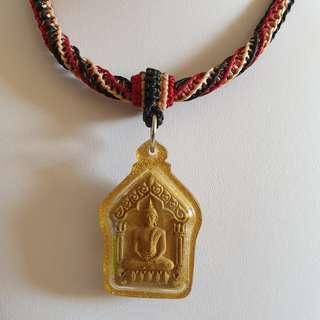 Thai Amulet Accessories: String Art Necklace (Black / Beige / Red) / 1 hook