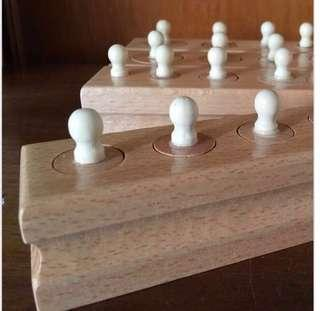 🚚 Montessori Mini Knobbed Cylinder