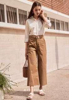 🚚 TCL Shirlane belted pants in khaki