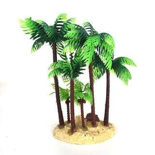 🚚 14CM Aquarium Fish Tank Palm Trees Landscaping Ornament Simulation tree