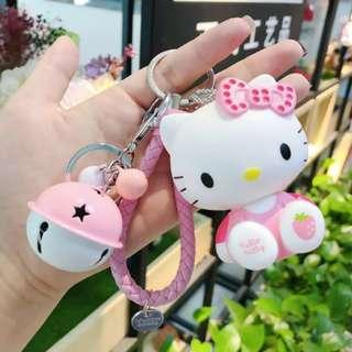 🚚 Hello Kitty Keychain / FOB with bell / bag charm