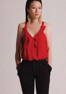 aalis's Adriana top in red