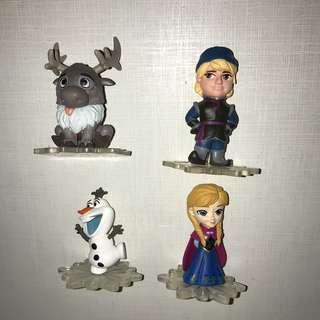 魔雪奇緣frozen 扭蛋4隻