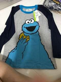 Cookie monster long sleeve top
