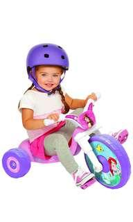 🚚 ~Ready Stocked~ Disney Princess Little Mermaid Fly Wheels Junior Cruiser tricycle bicycle Ride-on, Pink,