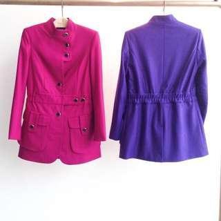 aalis's coat in magenta