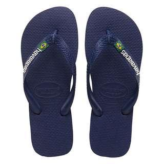 🚚 Havaianas Brasil Logo Unisex Slippers (Navy Blue)