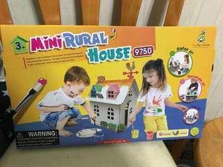 Mini Rural House 塗鴉 紙皮小屋 Messy Play