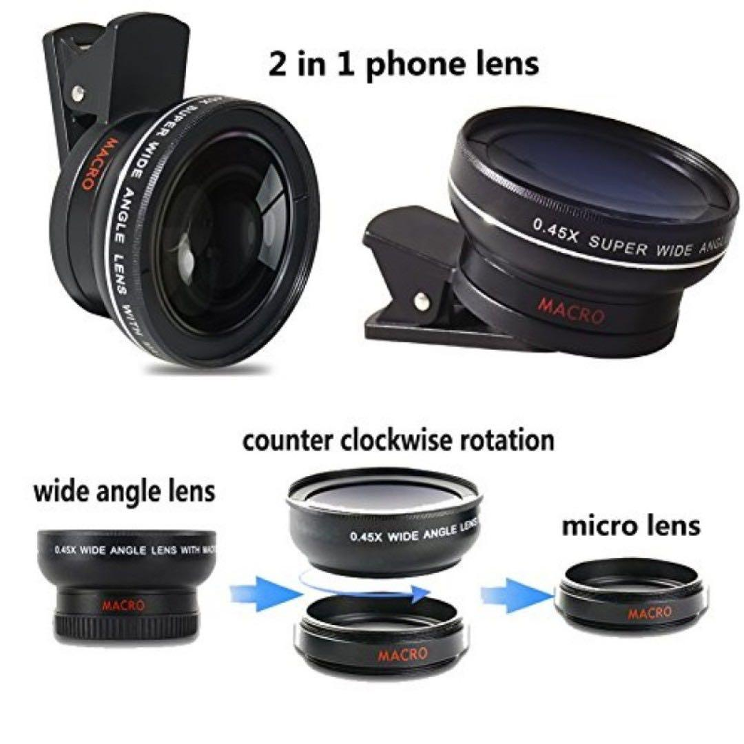 2 in 1 Mobile Phone Lens 0.45X Super Wide & 12.5X Macro Len