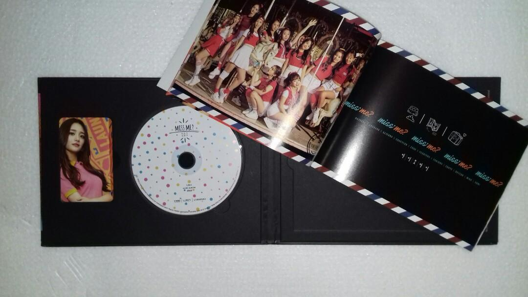 Album I.O.I - Miss Me? Sealed Album Kyulkyung photocard