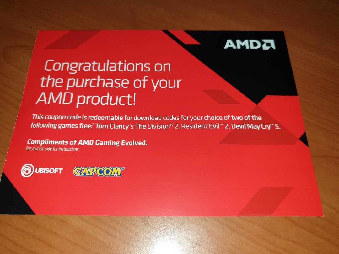 AMD REWARDS GAME COUPON, 3 LATEST GAME TO CHOOSE FROM!
