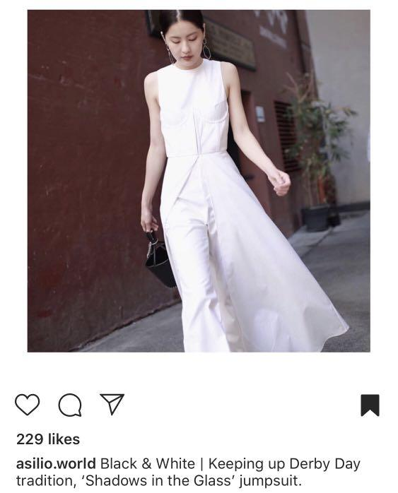 Asilio jumpsuit white! Long! And best for Debby! Gala! Wedding
