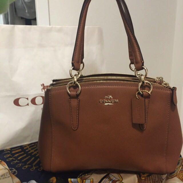 Authentic  Brand New Leather Saddle Brown Coach Handbag