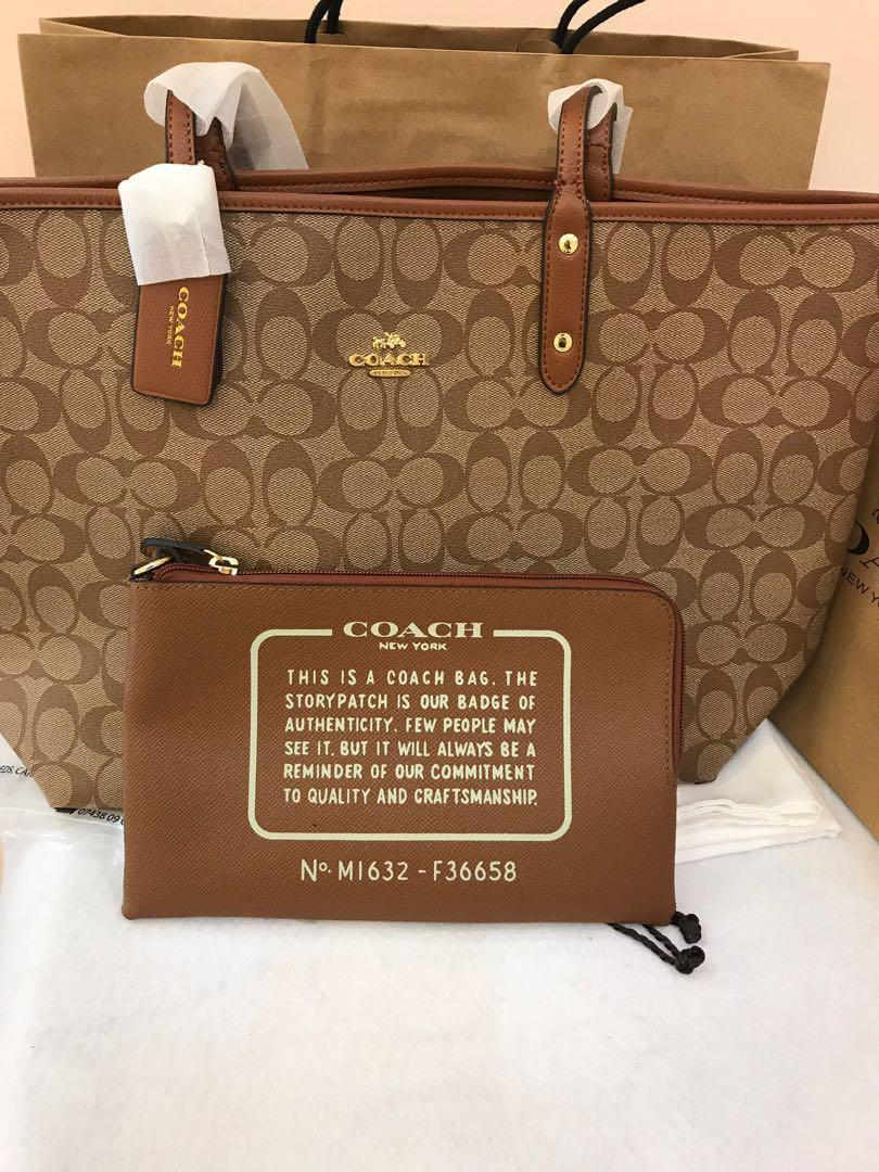 Authentic coach women 36588 in reversible totes
