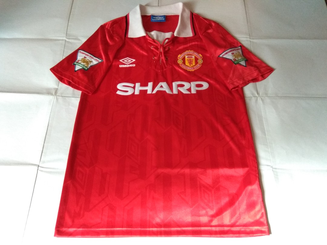 8643160db Authentic Never Been Worn Manchester United Umbro 1992 Home Retro ...