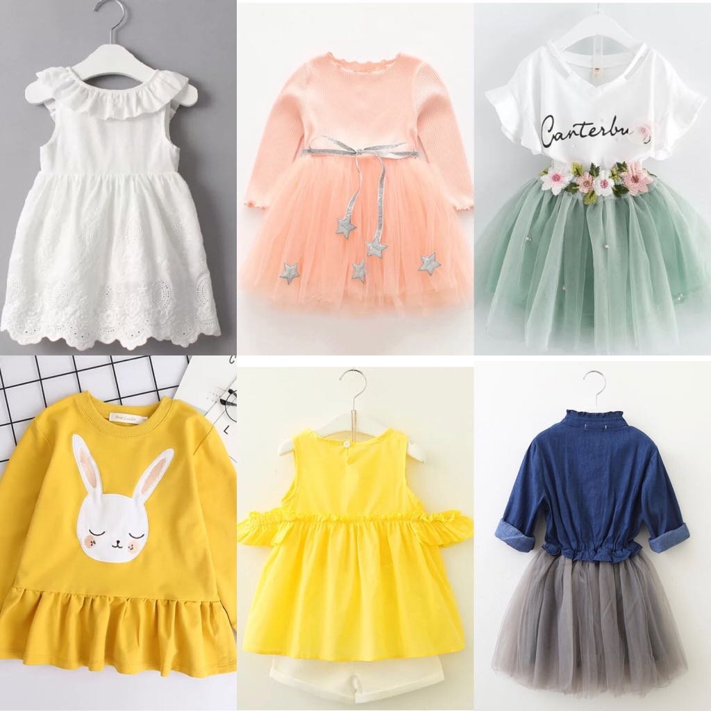 f32272e65d Baby Girl clothing set and dresses and with tutu skirts, Babies & Kids,  Girls' Apparel, 4 to 7 Years on Carousell