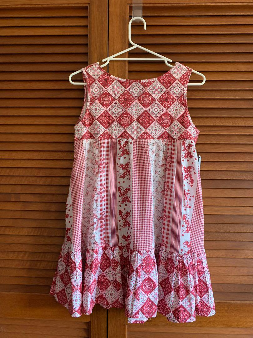 BNWT The Lady From. Patterned Red dress in size 12