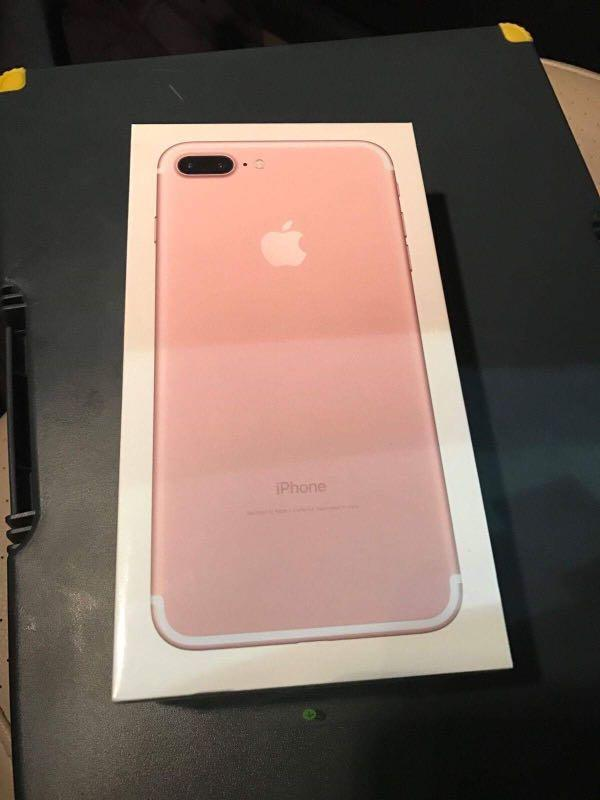 BRAND NEW iPHONE 7PLUS ROSE GOLD UNLOCK FROM THE FACTORY