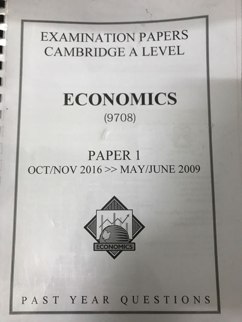 Cambridge A levels economics past papers 9708