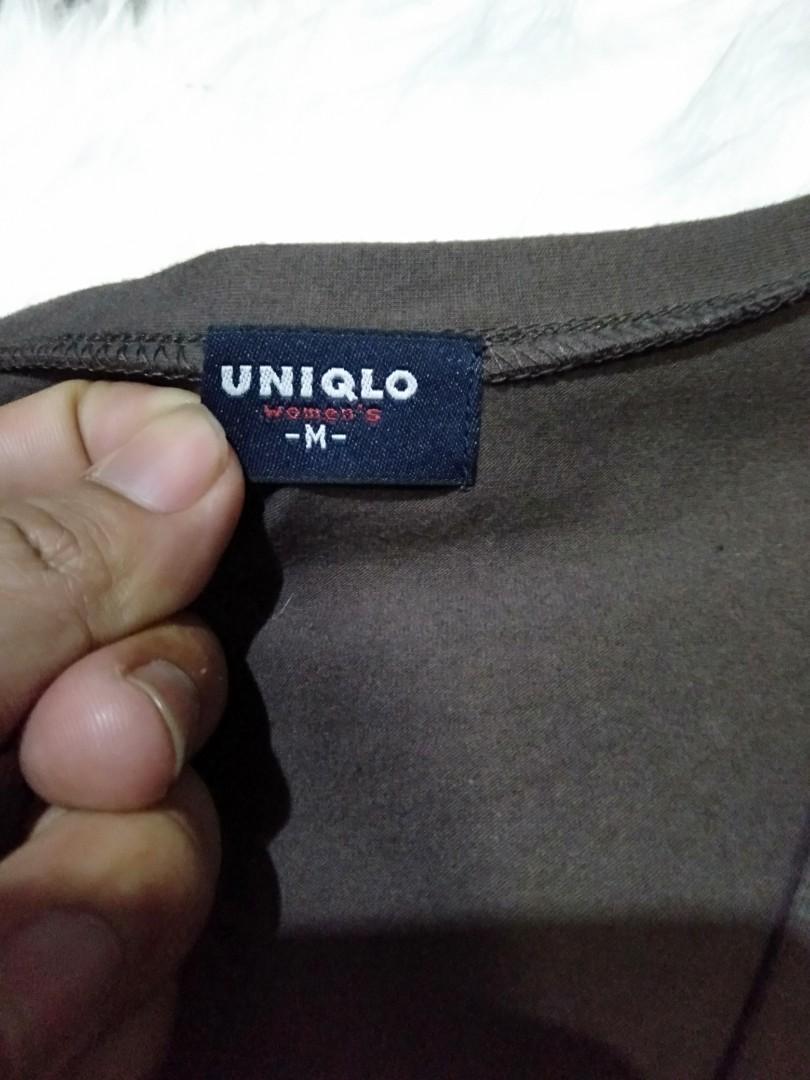 Cardigan Uniqlo greey import / t-shirt Uniqlo / cardigan