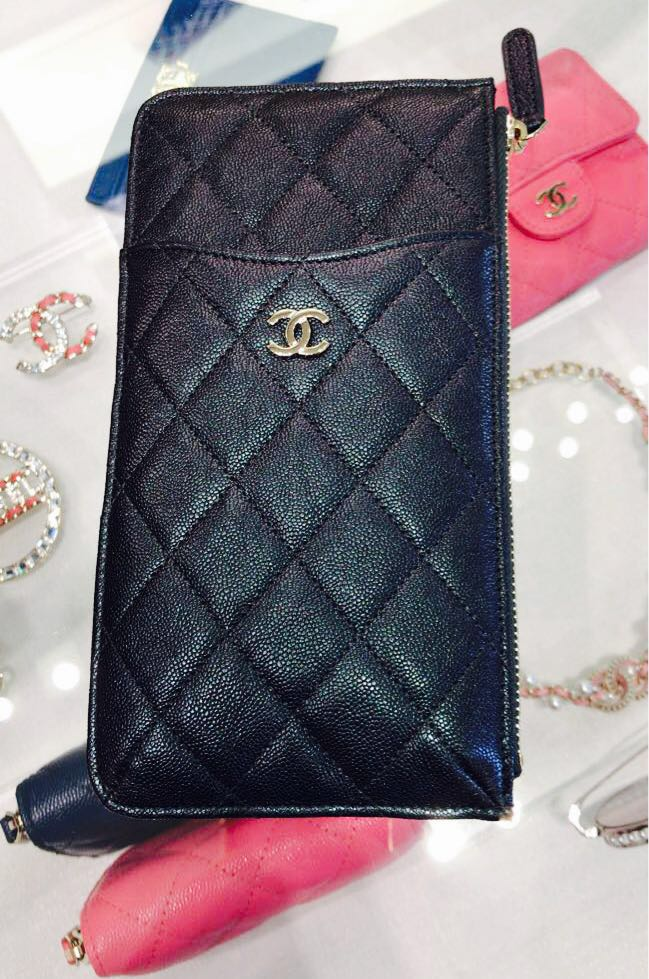 1c4da1d9edacc5 CHANEL Long card holder in latest 19S iridescent purple caviar ...