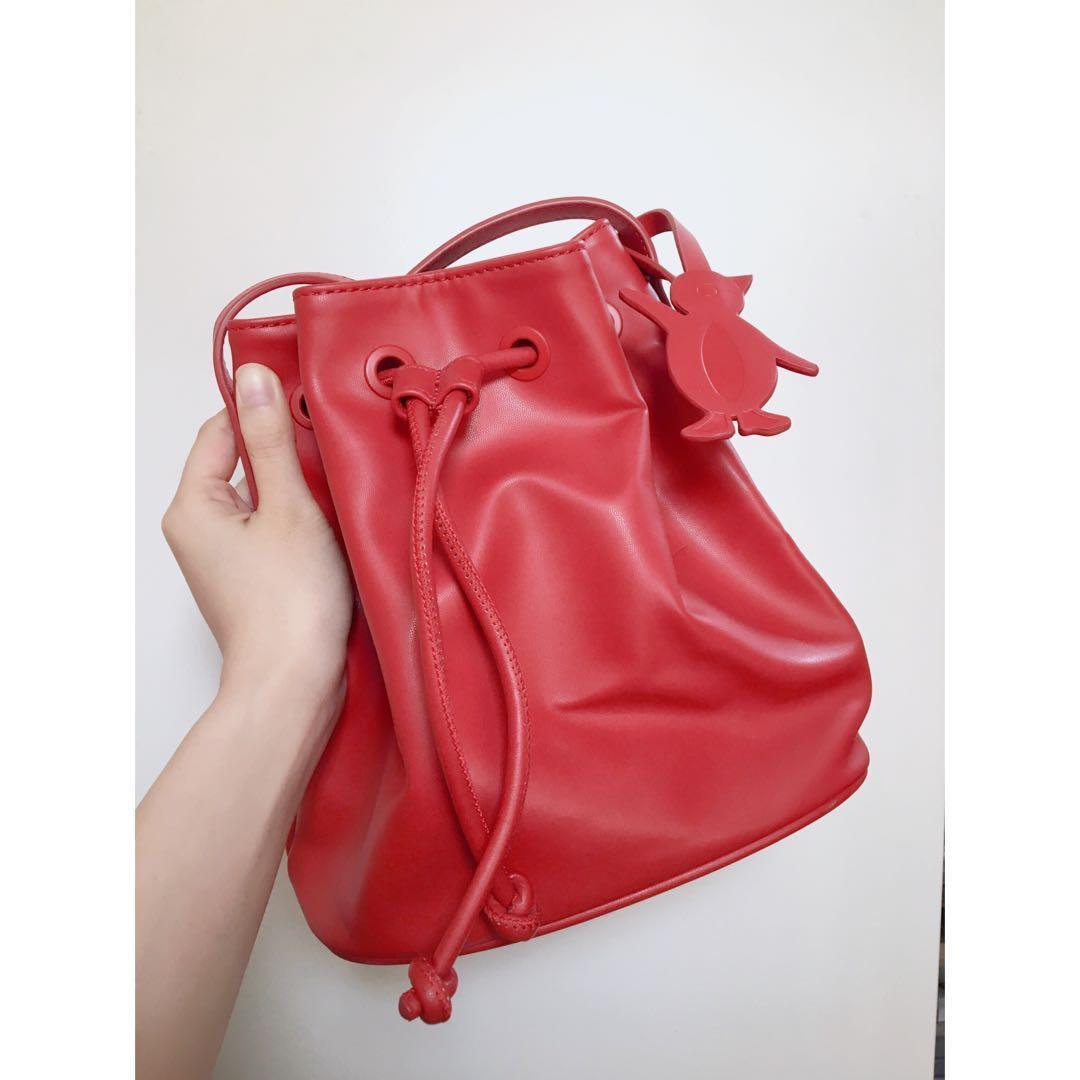 :Chocoolate 水桶袋 紅色