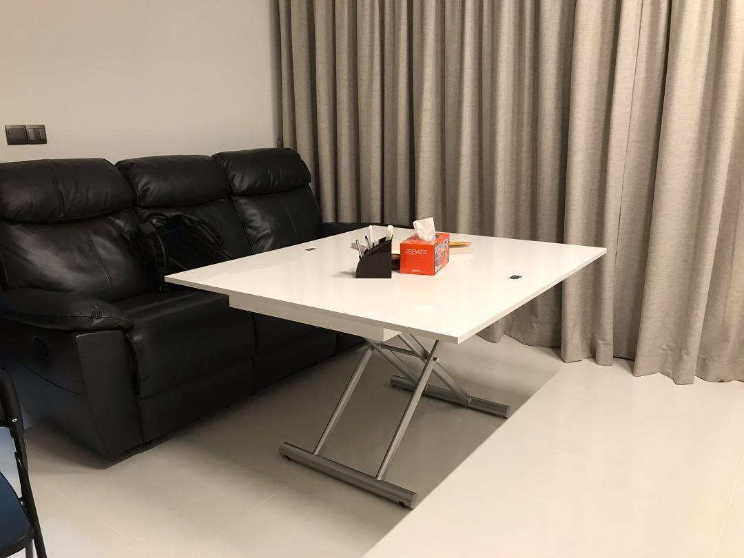 Coffee to Dining table. Expandable and Adjustable Height.