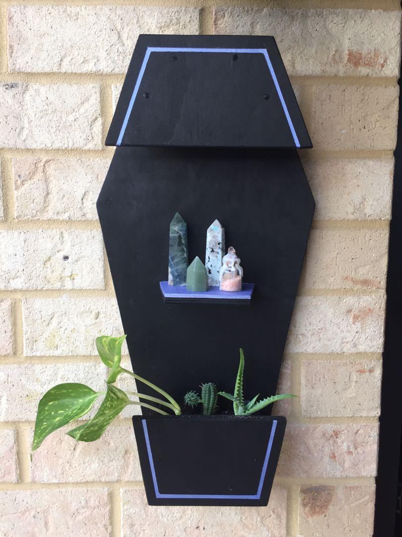 Coffin Planter / Shelf