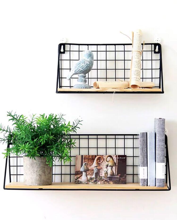 Creative wall hanging basket storage rack