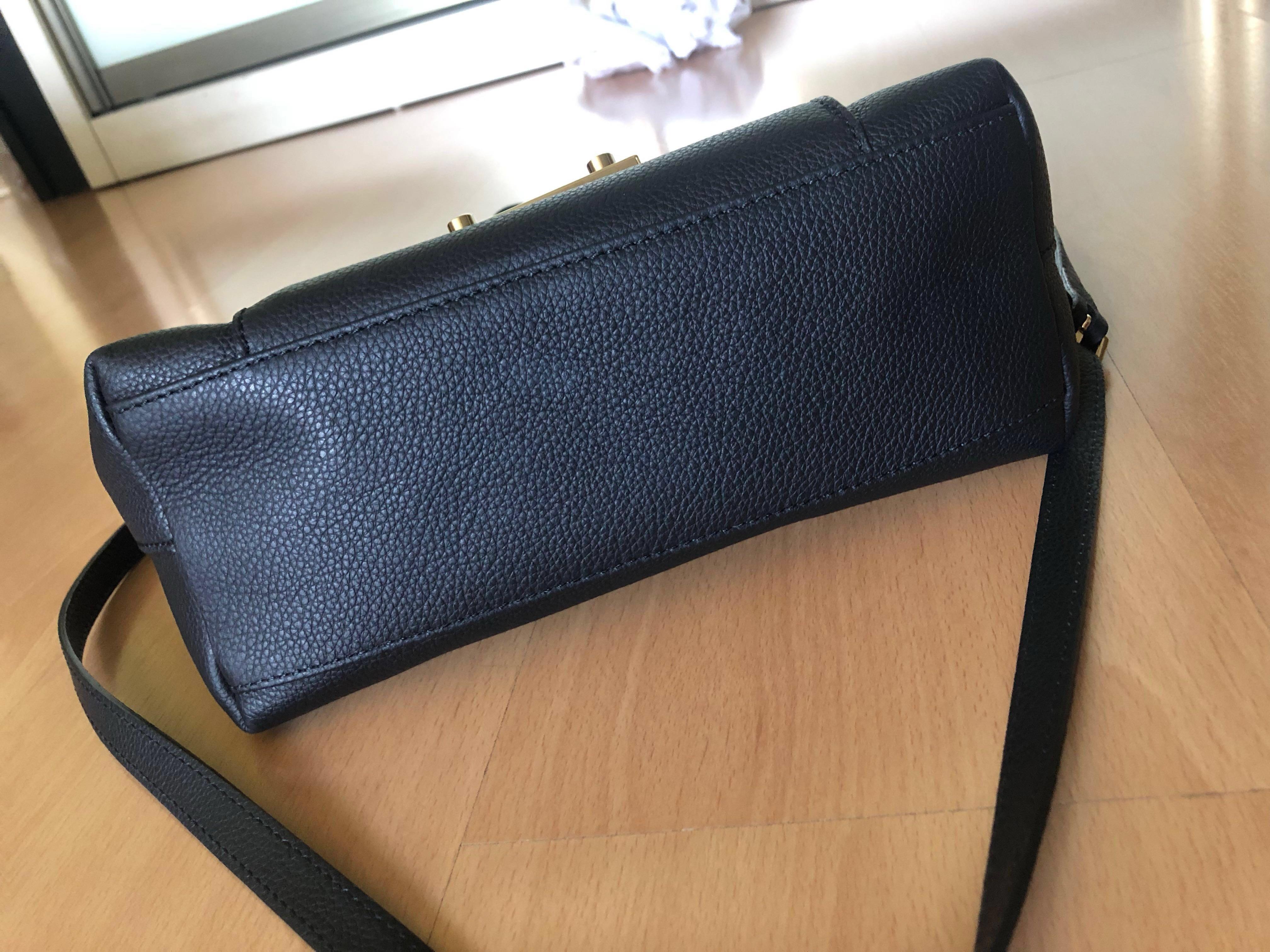 b4eff4e13 ✨Furla Julia leather work tote (Authentic) Black , Women's Fashion ...