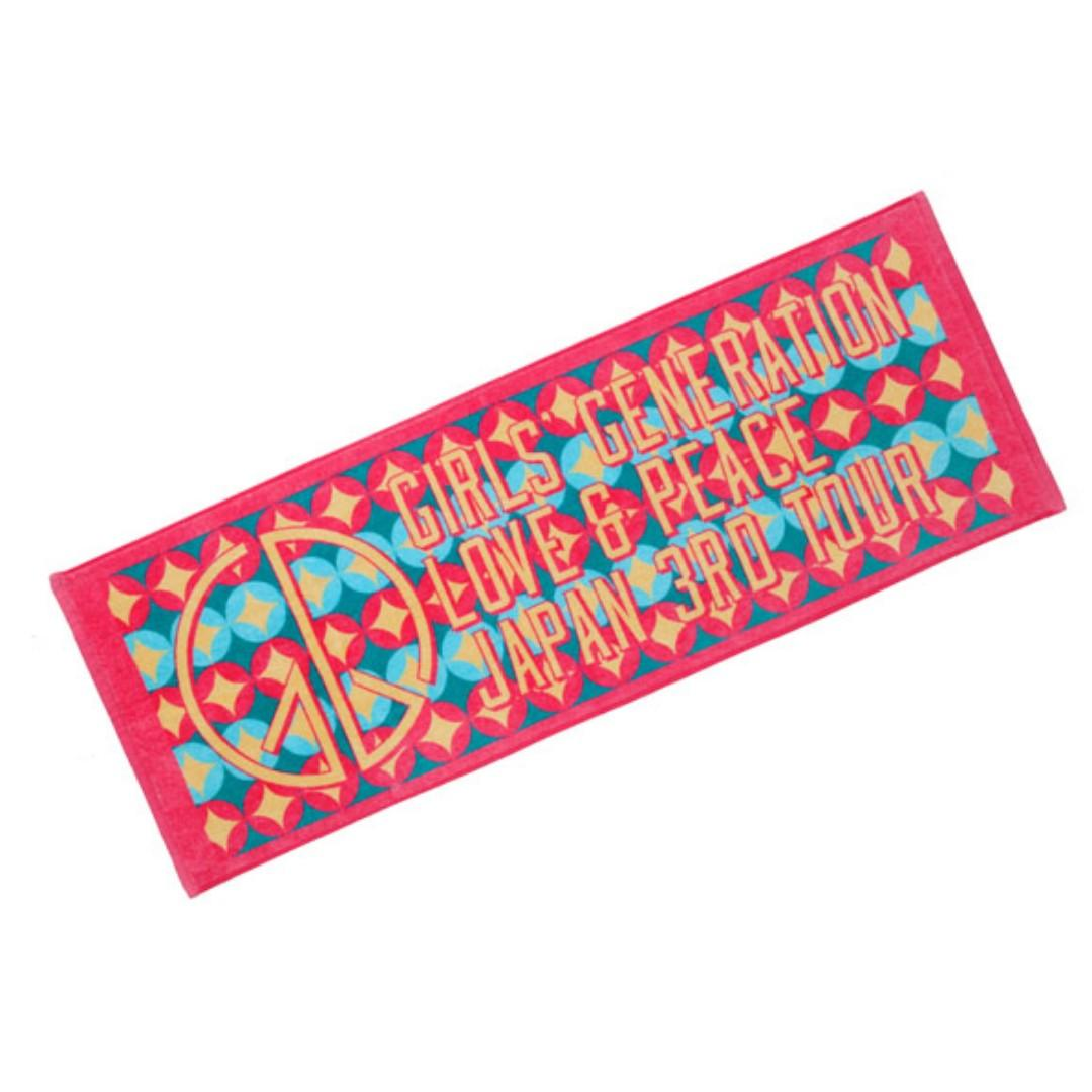 Girls' Generation Love & Peace Japan 3rd Tour 2014 Sports Towel