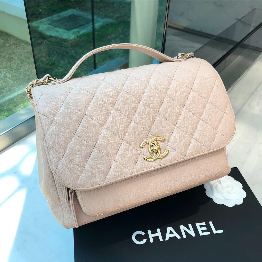 a319cfcc4026 💛Good Deal!💛 Chanel Business Affinity Flap in Beige Caviar GHW ...
