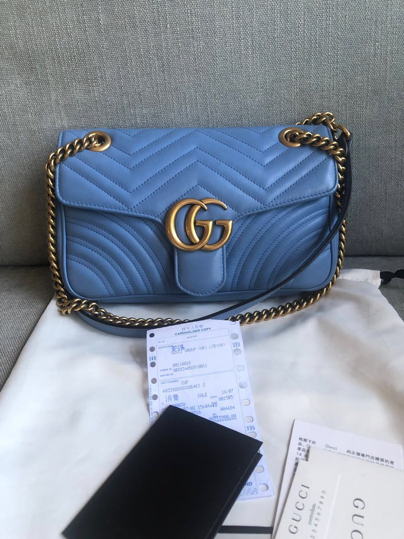 4d6b6510b Gucci Marmont small shoulder bag, Luxury, Bags & Wallets, Sling Bags ...